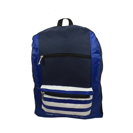 c50609fdd5d6 Wholesale Classic Backpack 18 inch Stripe Printed Basic Bookbag Bulk Cheap  Case Lot 40pcs Simple Schoolbag Promotional Backpacks Low Price Non Profit  ...