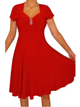 ca29c84571f3 Product Image Funfash Plus Size Clothing Women Red Slimming A-line Cocktail  Dress Made in USA