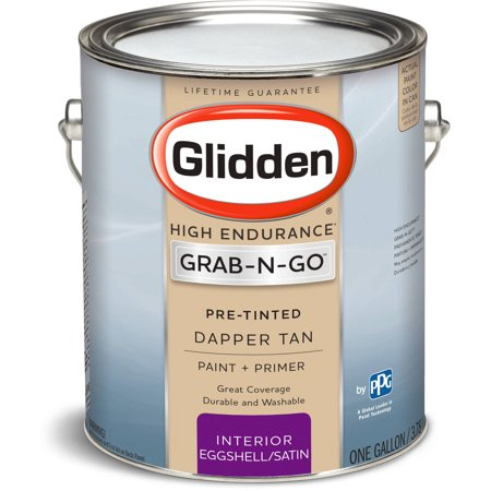 Glidden pre mixed ready to use interior paint and primer for Satin versus eggshell paint finish