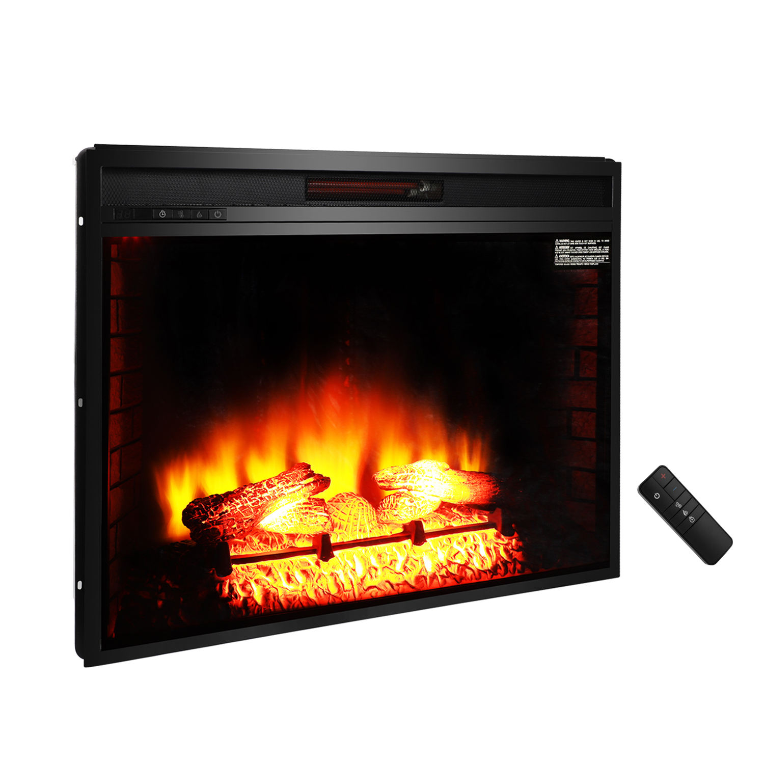 """Ktaxon 1500W 33"""" Electric Fireplace,Electric Fireplace Heater for Home,Flame Electric Fireplace"""
