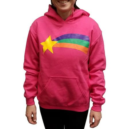 Dipper From Gravity Falls Costume (Mabel Pines Sweatshirt Gravity Falls Costume Pink Cosplay Rainbow TV Hoodie)