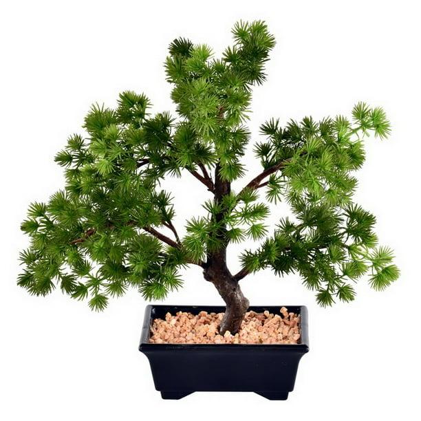 Vickerman 588741 12 Potted Pine Bonsai Tree Ta192012 Unlit Bonsai Tree Walmart Com Walmart Com