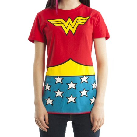Wonder Woman DC Comics Suit Up Juniors Costume T-shirt (Wonder Woman Junior T-shirt)