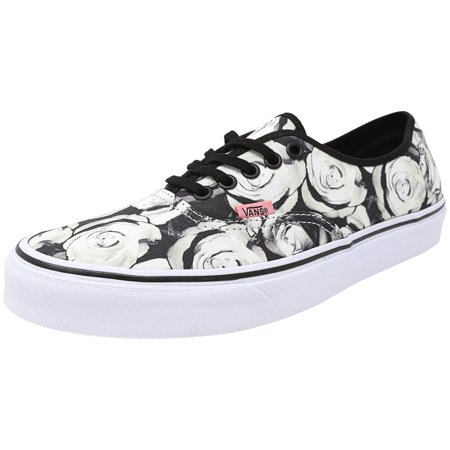 bdf136a150 Vans - Vans Authentic Digi Roses Black   True White Ankle-High Canvas  Fashion Sneaker - 10M 8.5M - Walmart.com