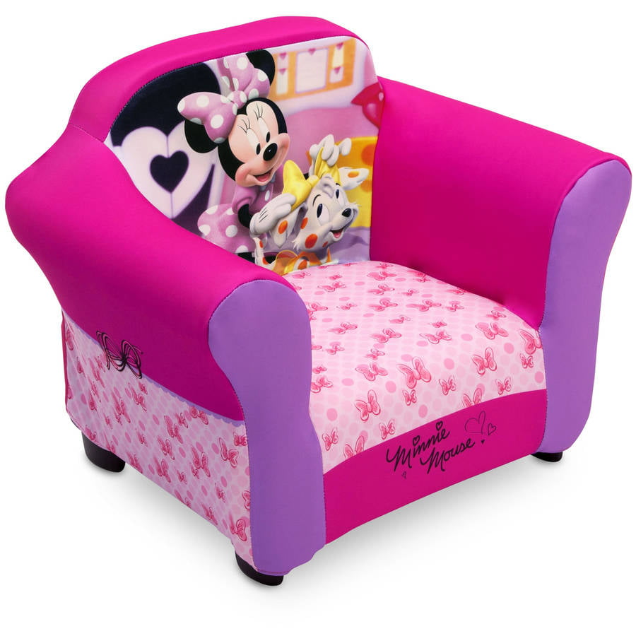 Terrific Details About Minnie Mouse Upholstered Sofa Chair With Cushion Pads For Kids Toddler Room Pink Machost Co Dining Chair Design Ideas Machostcouk