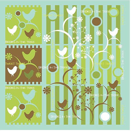 "Trademark Art ""Birds in the Tree"" Canvas Art by Grace Riley"