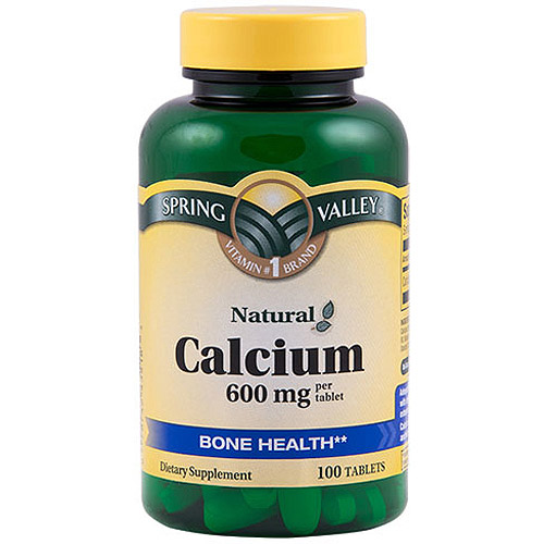 Spring Valley: Natural Easy To Swallow 600 Mg Bone Health Calcium Dietary Supplement, 100 Ct