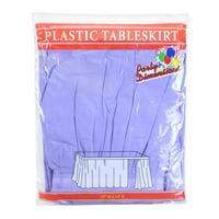 "Lavender  29""H X 14'L Plastic Disposable Party Table Skirt"