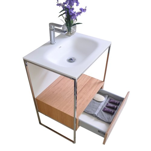 Brayden Studio Wilford 24'' Single Bathroom Vanity with M...