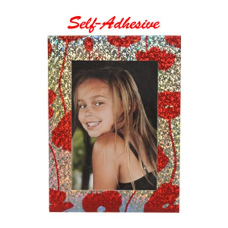 Red Flower Photo - Precision Design Self-Adhesive Photo Frame 4x6 (Red Flower)