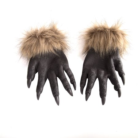 fashionhome Halloween Wolf Hands Claws Latex Horrific Costume Accessory Gloves Creepy Cosplay Tool Scary Decorations - image 1 of 8