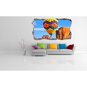 Startonight 3D Mural Wall Art Photo Decor Colored Air Balloon Amazing Dual View Surprise Wall Mural Wallpaper for Bedroom Kids Collection Wall Paper Art Gift Large 47.24 '' By 86.61 ''