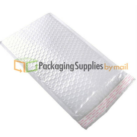 """6.5"""" x 10"""" #0 White Kraft Bubble Mailer Lightweight Padded Shipping Envelope - 500 Pieces"""
