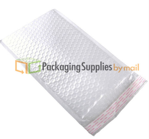 "White Kraft Bubble Mailer Shipping Mailing Envelopes 6.5"" x 10"", #0 1000 Bags"