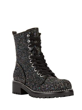 Portland Boot Company Glitter Faux Leather Combat Boot (Women's)