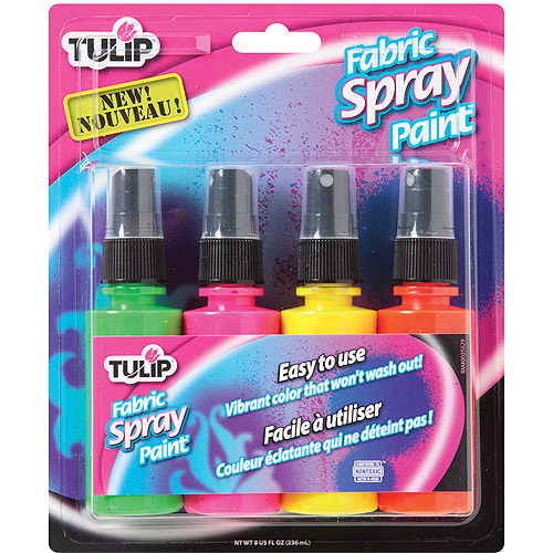 Tulip Fabric Spray Paints 2oz 4/Pkg-Neon