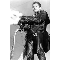 Arnold Schwarzenegger in Terminator 2: Judgment Day fires off machine gun 24x36 Poster