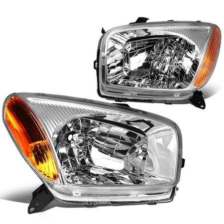 For 2001 to 2003 toyota RAV4 Headlight Chrome Housing Amber Corner Headlamp 02 XA20 2nd Gen