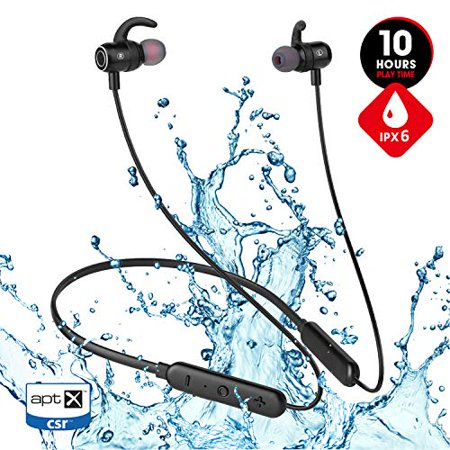 JT SOUND Bluetooth Headphones for Running Gym Workout, 2019 Best 10hrs Playtime Neckband IPX6 Waterproof Wireless Earbuds,