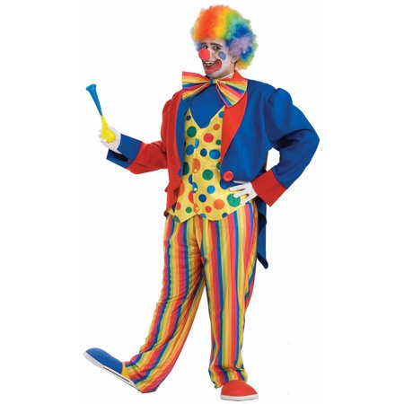 Plus Size Men's Clown Costume - Plus Size Mens Costume