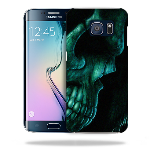 MightySkins Snap-On Protective Hard Case Cover for Samsung Galaxy S6 Edge Plus Death