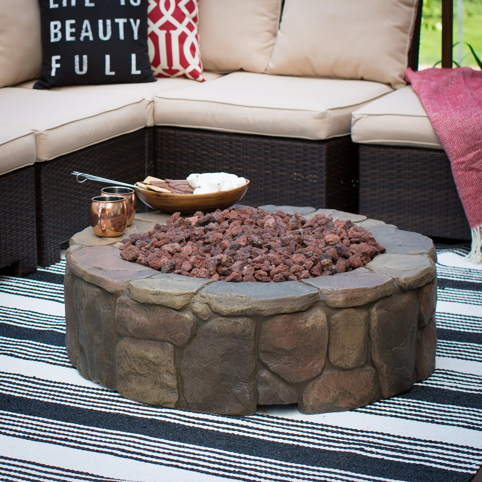Red Ember 36 In Clarksville Campfire Fire Pit With Free Cover