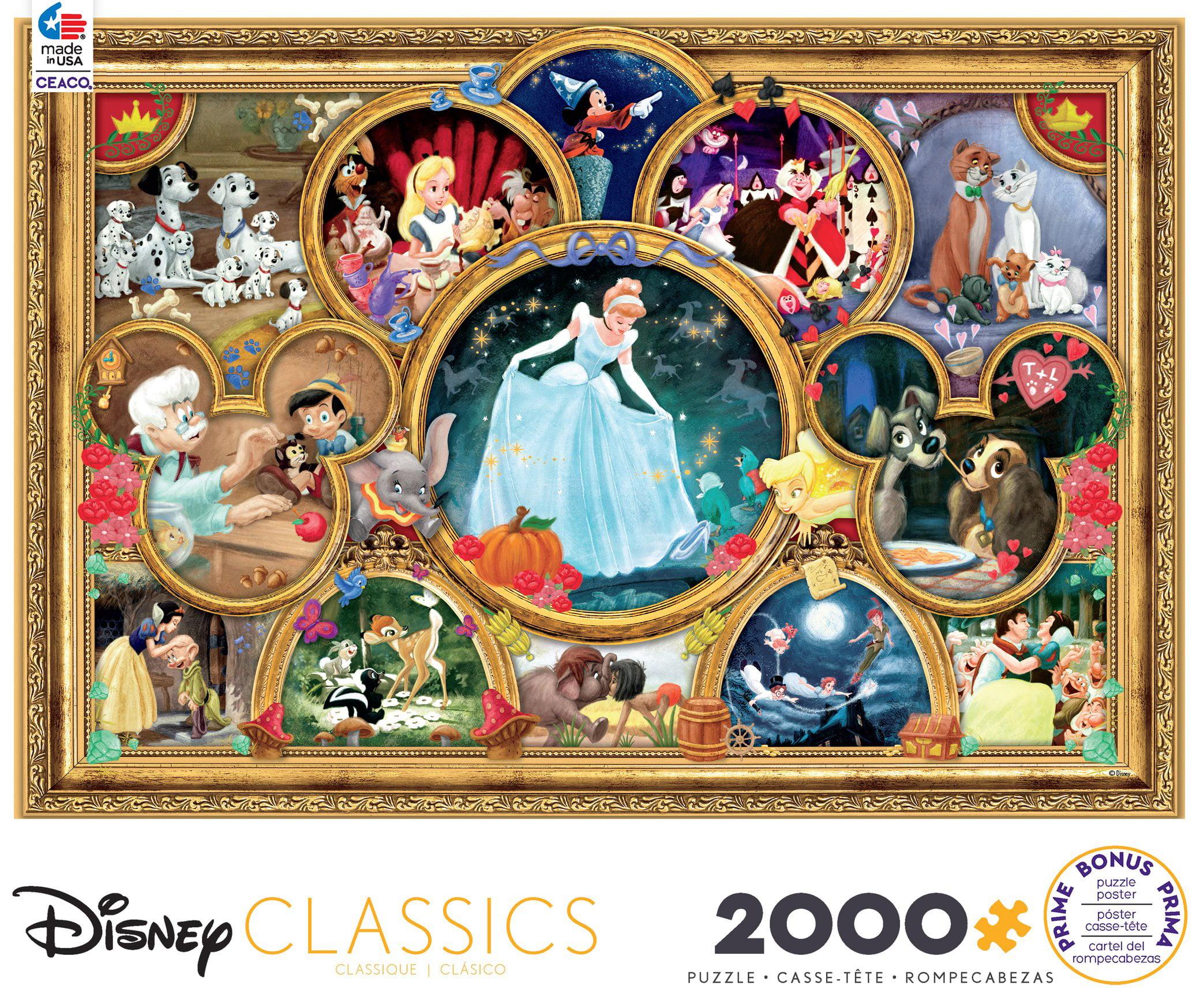Ceaco - Disney 2000 - Classics - 2000 Piece Jigsaw Puzzle ...