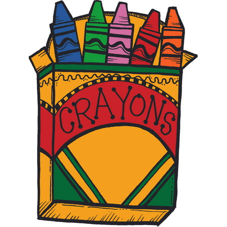 Box of Crayons Crayon Design School Wall Decals for Classroom Design and Decoration Decals on Walls - Creative Teacher Artwork Stickers Sticker Back to School Ideas Teachers Schools Size (20x12 inch)