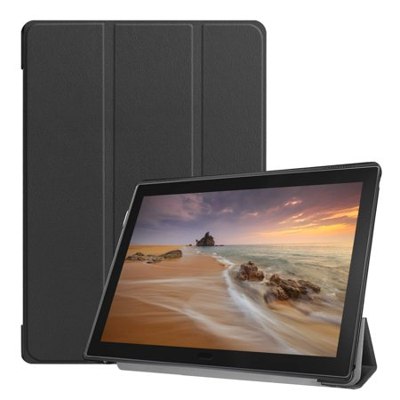 Lenovo Tab E10 Case, EpicGadget Slim Lightweight Smart Case Tri fold Stand Cover Case for Lenovo Tablet 2018 Tab E 10 (TB-X104F) 10.1 Inch Display (Black) ()