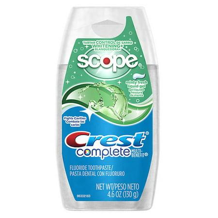 Crest Whitening Fluoride Anticavity Toothpaste, Plus Scope Flavor - 4.6 Oz, 2 Pack