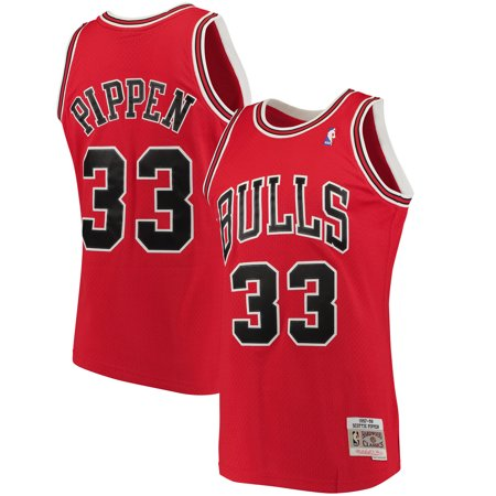 Scottie Pippen Chicago Bulls Mitchell & Ness Big & Tall Hardwood Classics Jersey - Red Chicago Bulls Basketball Jersey