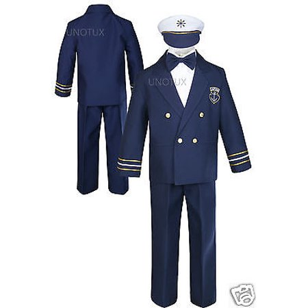 Baby Boy & Toddler Wedding Formal Party Captain Sailor Suit Outfits sz:0-7 Years - Captain Caveman Outfit