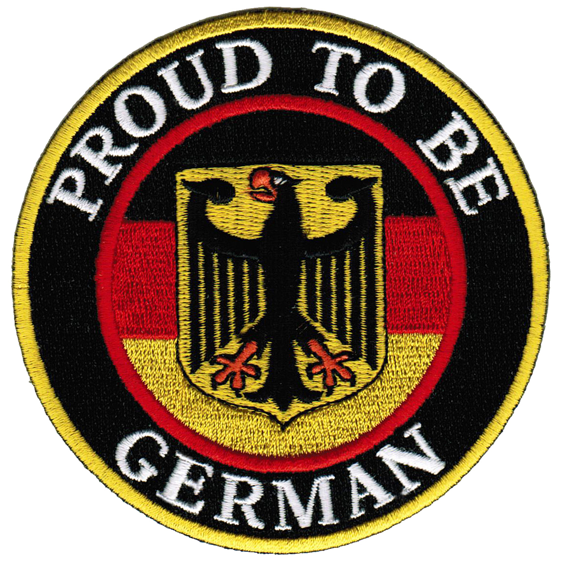 Proud To Be German Iron-On Embroidered Biker Patch