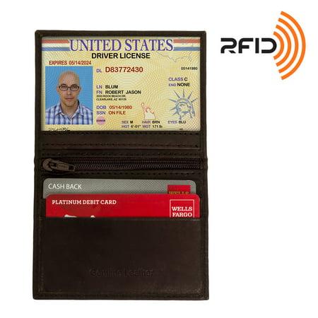 Ross Michaels Genuine Leather Rfid Slim Bifold Wallet W  Coin Pocket