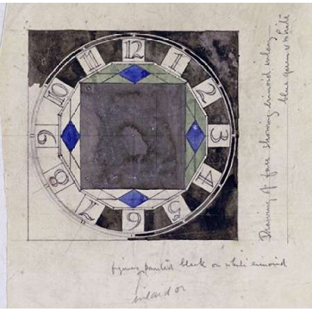Design For Clock Face 1917 Poster Print by  Charles Rennie Mackintosh