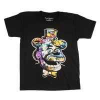 Five Nights at Freddy's Trap Art Black Cotton T-Shirt (Little Boys & Big Boys)