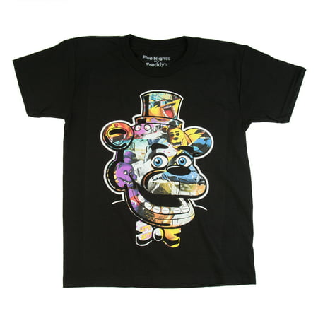 Five Nights at Freddy's Trap Art Black Cotton T-Shirt (Little Boys & Big (Black Organic Cotton Tee)