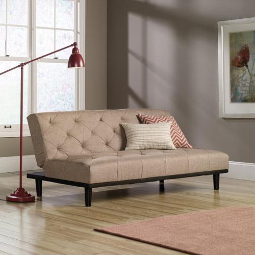 Sauder Premier Mason City Convertible Sofa Camel Walmart