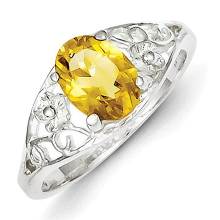 Sterling Silver Citrine Ring LAL44815 - Ring Eraser