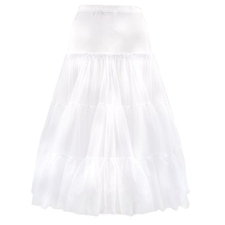 Candyland Petticoat Skirt for Girls - Underskirt and Kids White Half Slip Poodle Skirt Perfect for Formal Dress (Size 16) - Candyland Sweet 16 Theme