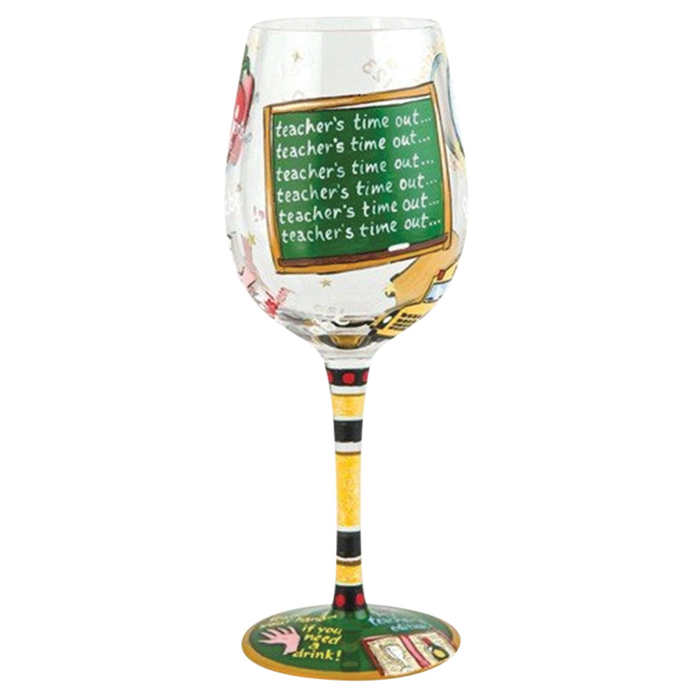 Lolita Teacher's Time Out Wine Glass