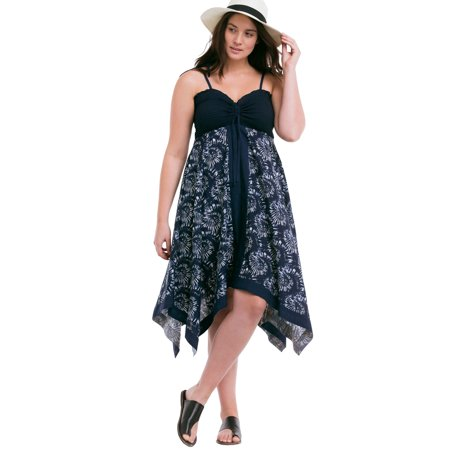 Ellos Plus Size Scarf Print Dress (Dress Scarf Collection)
