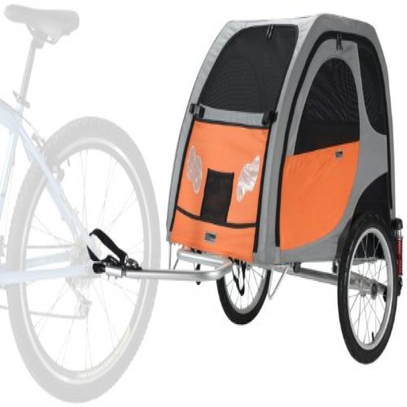 PETEGO Comfort Wagon Bicycle Pet Trailer, Large