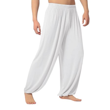 Wome Casual Solid Color Baggy Trousers Belly Dance Yoga Harem Pants