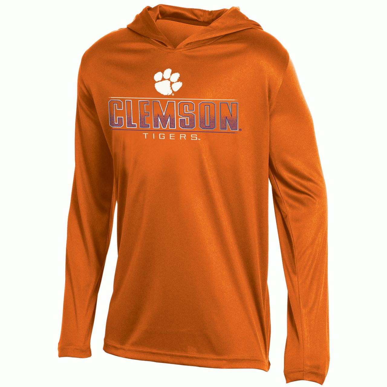 Youth Russell Orange Clemson Tigers V-Neck Pullover Hoodie