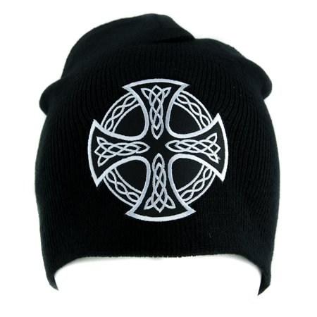 Alternative Cap - Celtic Iron Cross Beanie Alternative Style Clothing Knit Cap Sons of Anarchy Biker