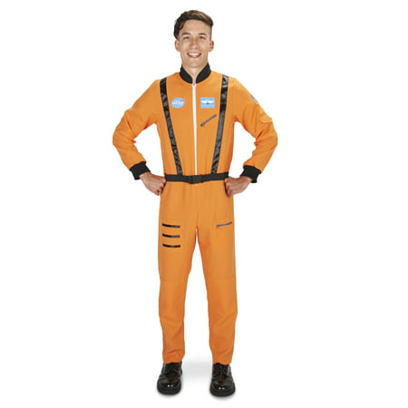 Astronaut Adult Jumpsuit Costume - Orange Prison Jumpsuit