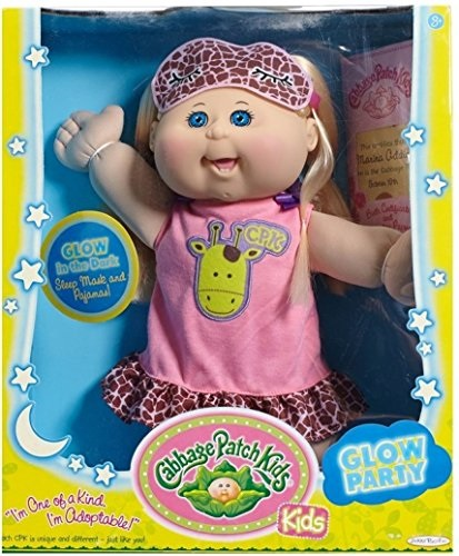 Cabbage Patch Kids Glow Party: Blond Hair, Caucasian Girl 14' Doll by