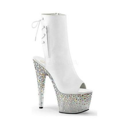 Women's Pleaser Starsplash 1018-7 Ankle Boot Black 6 M](Pleaser Boots)