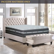 GOWTUN, 12-Inch Medium Firm Foam Encased Eurotop Pillowtop Memory Foam Gel Pocketed Coil Innerspring Fully Assembled Mattress, Good For The Back, Spring Air Collection, Twin XL Size